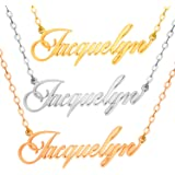 ABIsedrin Collana Personalizzata - Collana con Nome in Argento Sterling 925 - Collana Donna Uomo Happiness Boutique Collana C