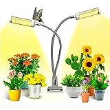 KagoLing växtlampa, växtljus för inomhusväxter med 100 LED-lampor fullt spektrum LED odlings växtlampa 360 ° justerbar svanha