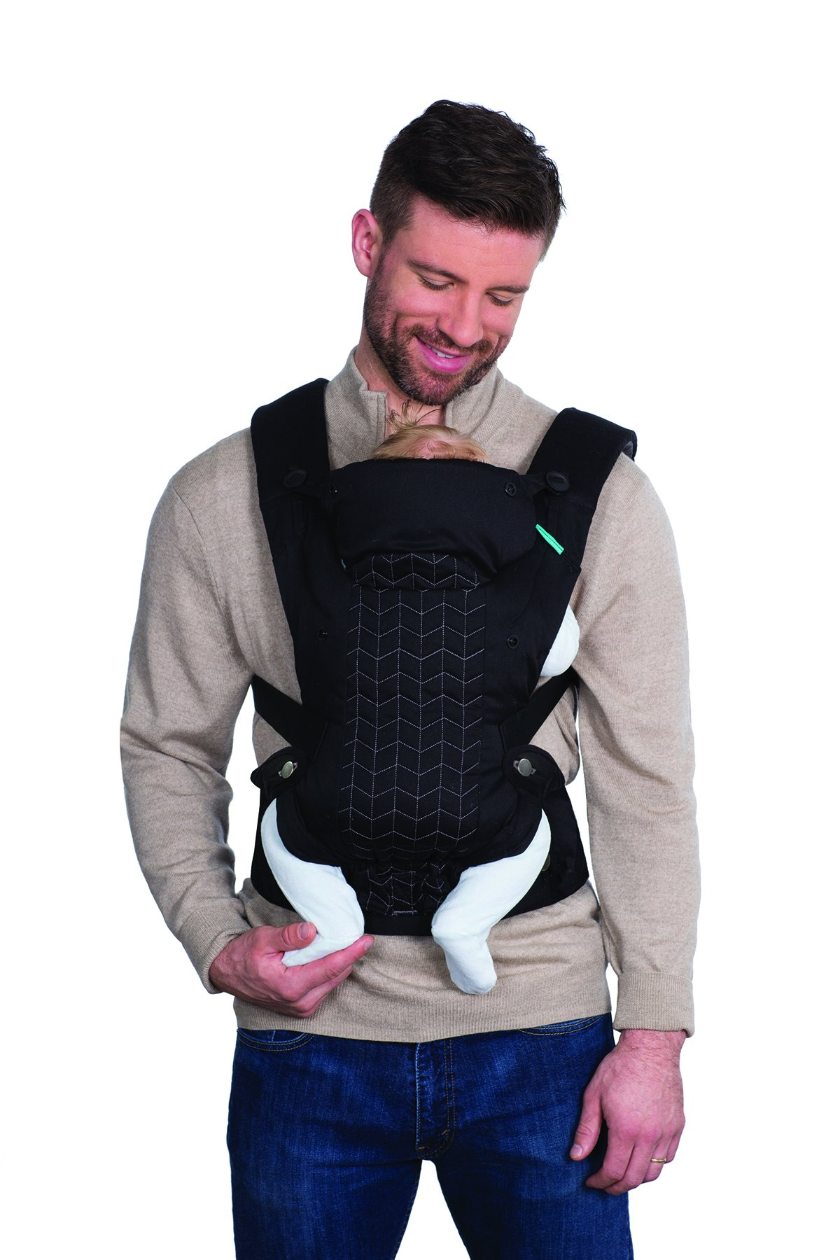 Infantino Upscale Carrier, Black, One Size Infantino Fully safety tested 4 way carrier Facing in newborn & m position 5