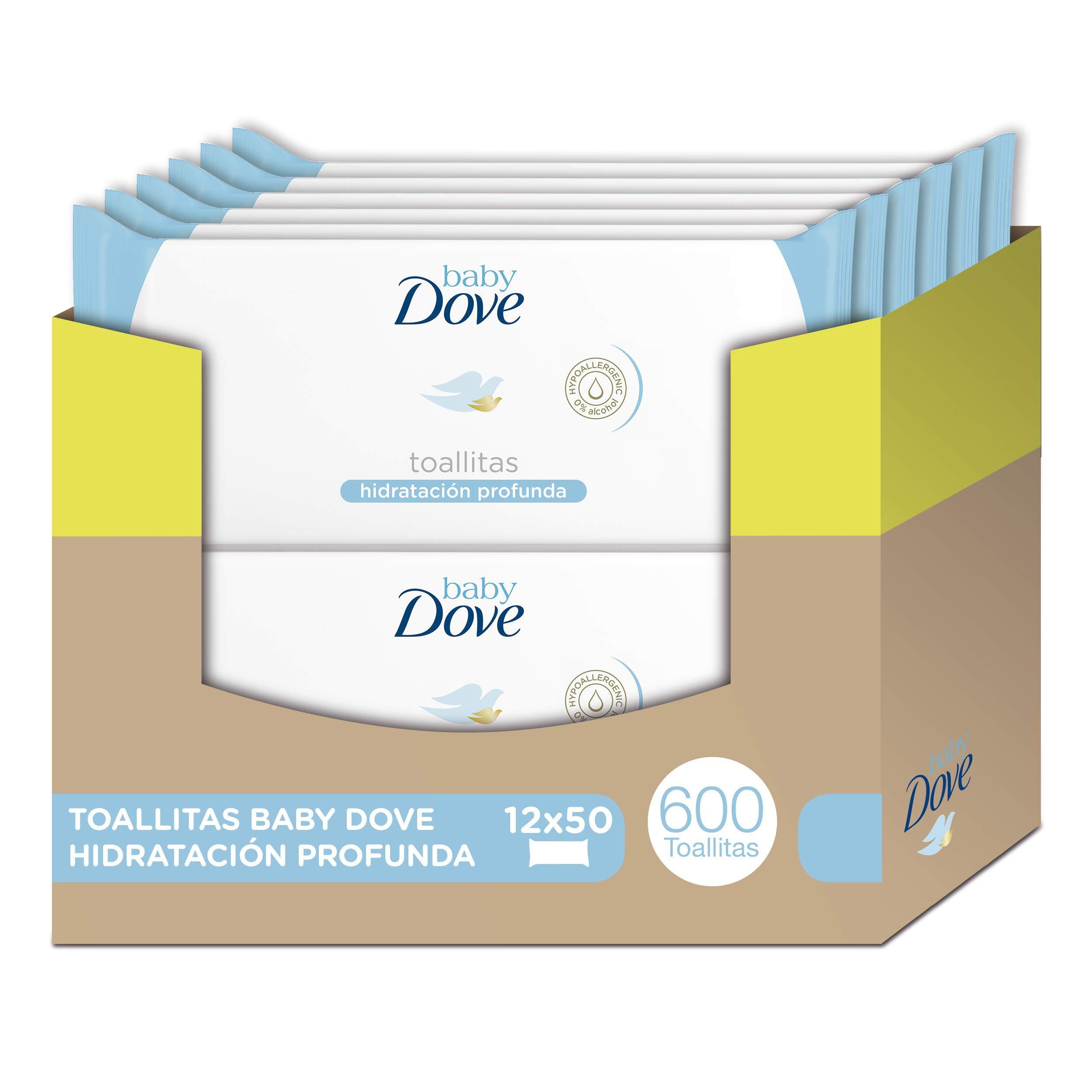 Toallitas húmedas Baby Dove hidratación profunda – Pack de 12 x 50: Total 600 toallitas