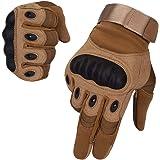 SKYSPER Gants de Moto Écran Tactile Plein-Doigt Gant Moto Homologué CE Femme et Homme Gants Tactiques de Sport en Plein…