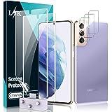 LϟK 5 Pack Protector de Pantalla para Samsung Galaxy S21 Plus 5G 6.7 Pulgada con 2 Pack HD Película de TPU y 3 Pack Protector