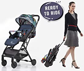 R for Rabbit Pocket Stroller Lite - The Most Portable Baby Stroller and Pram for Baby/Kids with No Installation (Grey)