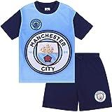 Manchester City FC officiell fotbollspresent pojkar kort pyjamas