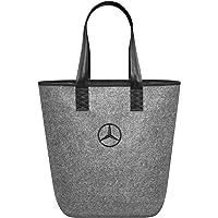 Mercedes-Benz Collection Einkaufstasche in grau | Einkaufstasche aus Filz | Farbe: grau/silber | Maße: ca. 26 x 14 x 40…