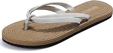 TARELO Zehentrenner Damen Flip Flops Modisches Gewebtes Design Sandalen Sommerschuhe Für Leicht Weich Strand Schwimmbad Drinnen Draußen gr 36-41