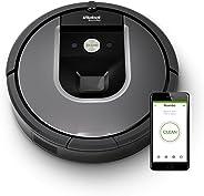 iRobot Roomba Volks-Saugroboter 960 mit starker Saugkraft, zwei Multibodenbürsten, Navigation für mehrere Räume, lädt sich a