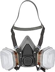 3M 6002C Mehrweg-Halbmaske – Halbmaske mit Wechselfiltern gegen organische Gase, Dämpfe & Partikel – Für Farbspritz- und Maschinenschleifarbeiten