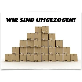 neue Adresse Karte Motiv Schl/üssel 16 x Postkarten f/ür Umzug Einzug Auszug Wohnungswechsel