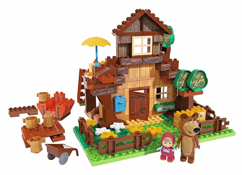 Masha and the Bear Building Blocks Misha Bear's House Big Set Brand New