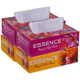 ESSENCE 2 Ply Face Tissue Royal Soft Tissue Carton Box - 100 Pulls (Pack of 4)