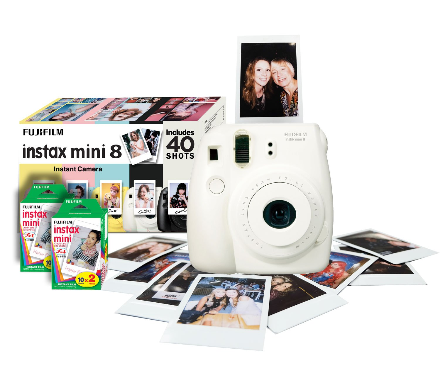 Instax Mini 8 Instant Camera Gift Bundle with 40 Shots: Amazon.co ...