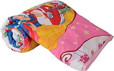 Clasiko Single Bed Comforter Cartoon Print Princess , Fabric - Micro Cotton, Size -54X84 Inches, Color Fastness Guarantee, 250 Gsm