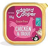 Edgard & Cooper Comida Humeda Gatito Gato Junior Kitten Natural Sin Cereales Esterilizados, Latas 19x85g Pollo y Truchas Fres