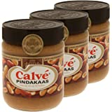 Calvé Pindakaas Ohne Zuckerzusatz Peanut Butter Brotaufstrich, Peanut, Erdnusscreme, Glas, 3 x 350g