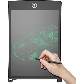 angmno 8.5 inch Writing Tablet for Drawing and Learning Office Memo e-Writer Pad Message Board (8.5, Black) (Black)