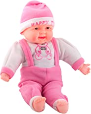 Toyshine 18 inches Baby Musical and Laughing Boy Doll, Touch Sensors, Light Pink, Assorted Design