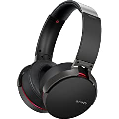 Renewed  Sony MDR XB950B1 On Ear Wireless Premium Extra Bass Headphones  Black