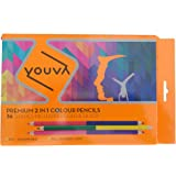 Navneet Youva | Premium 2 in 1 | Colour Pencil | Pack of 18