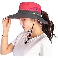 VICSPORT Cappello da Sole Donna Cappello Secchio Cappelli da Pesca All'aperto Protezione UV