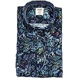Olimp Level Five - Camisa de manga larga, diseño de cord, color azul