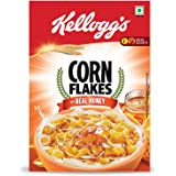 Kellogg's Corn Flakes with Real Honey   Breakfast Cereals   Low Fat   High in Vitamin C   High in Iron   Naturally Cholestero