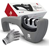 Kitchen Knife Sharpener Knives Sharpening - 3 Stage Sharpens Chef's Knife Tool, Kitchen Accessories Help Repair, Restore and