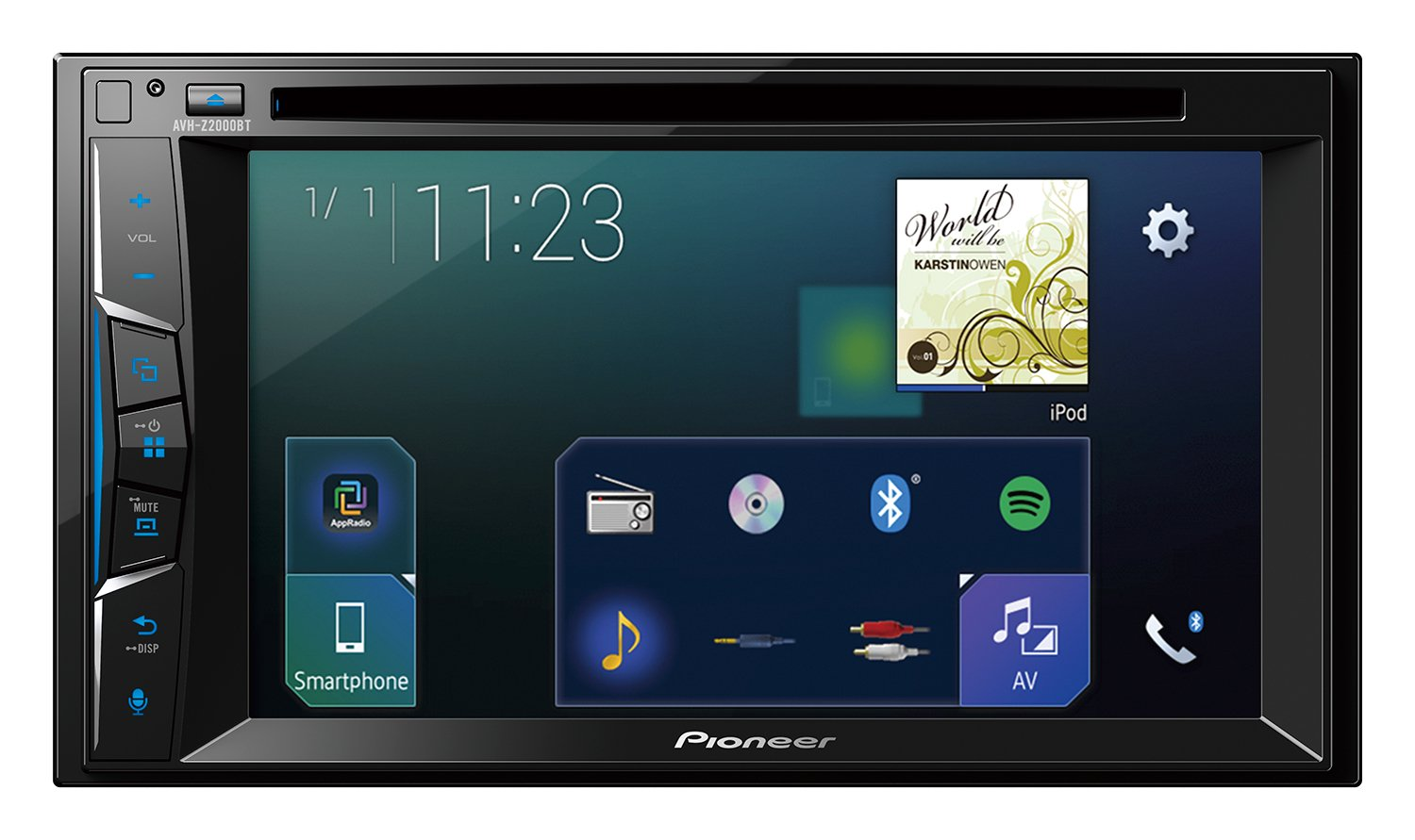 Pioneer-Autoradio-62-Zoll-Clear-Type-Touchscreen-Bluetooth-Apple-CarPlay-Waze-Navigation-AppRadio-Freisprecheinrichtung