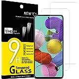 NEW'C [2 sztuki] ochraniacz ekranu do Samsung Galaxy A51, Folia ochronna ze szkła hartowanego bez pęcherzyków powietrza, odpo