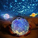 مصباح ستار نايت للاطفال، مصباح اسقاط باضاءة ليلية للكون، مصباح جهاز العرض الجديد لعرض العيد ميلاد والبحر والنجوم الصور الروما