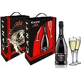 CANTI Asti DOCG Spumante Dolce + 2 Bicchieri Luxury Pack - 1 X 750ml