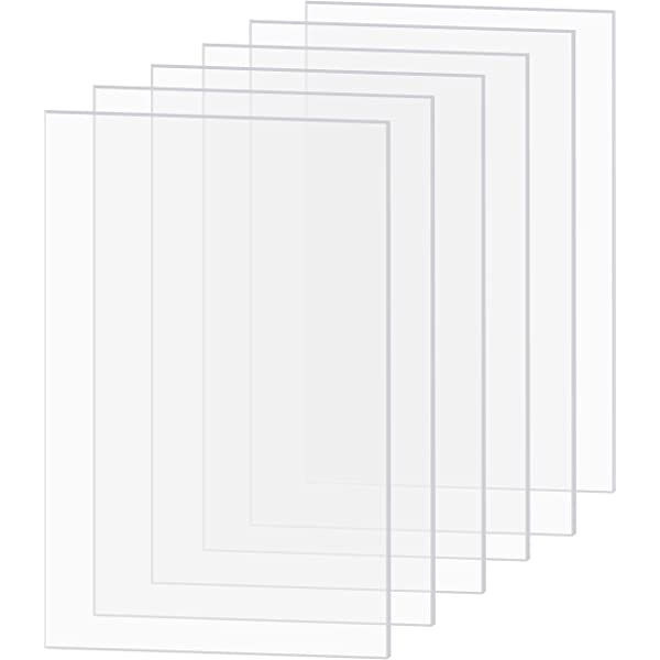 Handicrafts Home 2 0 Mm Ultra Transparent Acrylic Plexiglass Photo Size Sheet Picture Frame Replacement Glass 5x7 Inches Pack Of 10 Pcs Home Decor Picture Frames