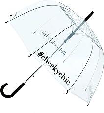 Cheeky Chunk Transparent Dome Shaped Hashtag Umbrella