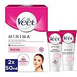 Veet Kit Crema Depilatoria Facial Adecuado para Labio Superior (Bigote) y Mentón + Crema Hidratante Post-depilatoria para un