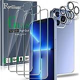 Ferilinso Verre Trempé Conçu pour iPhone 13 Pro Max, 3 Pièces HD Film Vitre Protection écran avec 2 Pièces Caméra Arrière Pro