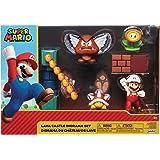 Nintendo - Jakks 400152 – Jakks Lava Castle Diorama set, 6 cm, rund, Nitendo Super Mario
