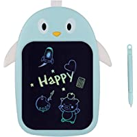 Proffisy Colourful Screen LCD Writing Tablet 8.5 Inch Color Line E-Writing Electronic Board and Scribble MeMO Notes for Kids and Adults at Home,School and Office Multicolor Penguin Typet (Blue)
