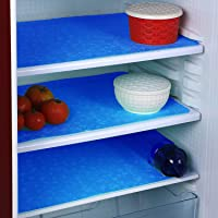 FACTCORE™ Refrigerator Drawer Mat/Fridge Mat/Multipurpose Mat Set of 6 Pcs (12 X 17 Inches) (Blue)