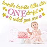 Twinkle Twinkle Little Star Banner Girl 1st Birthday Party Decor