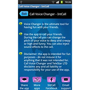 Call Voice Changer - IntCall: Amazon co uk: Appstore for Android