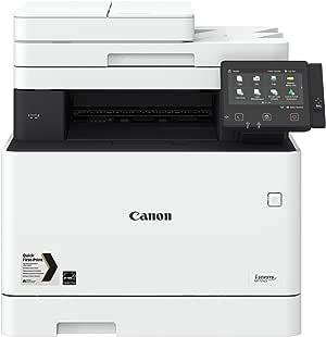 Canon i-SENSYS MF735Cx; Farblaser-Multifunktionssystem (Drucken, Kopieren, Scannen, Faxen); bis 27 Seiten/Min. (DIN A4); 12,7 cm-LCD-Farbtouchscreen; USB 2.0 Hi-Speed, Ethernet, Wireless 802.11b/g/n
