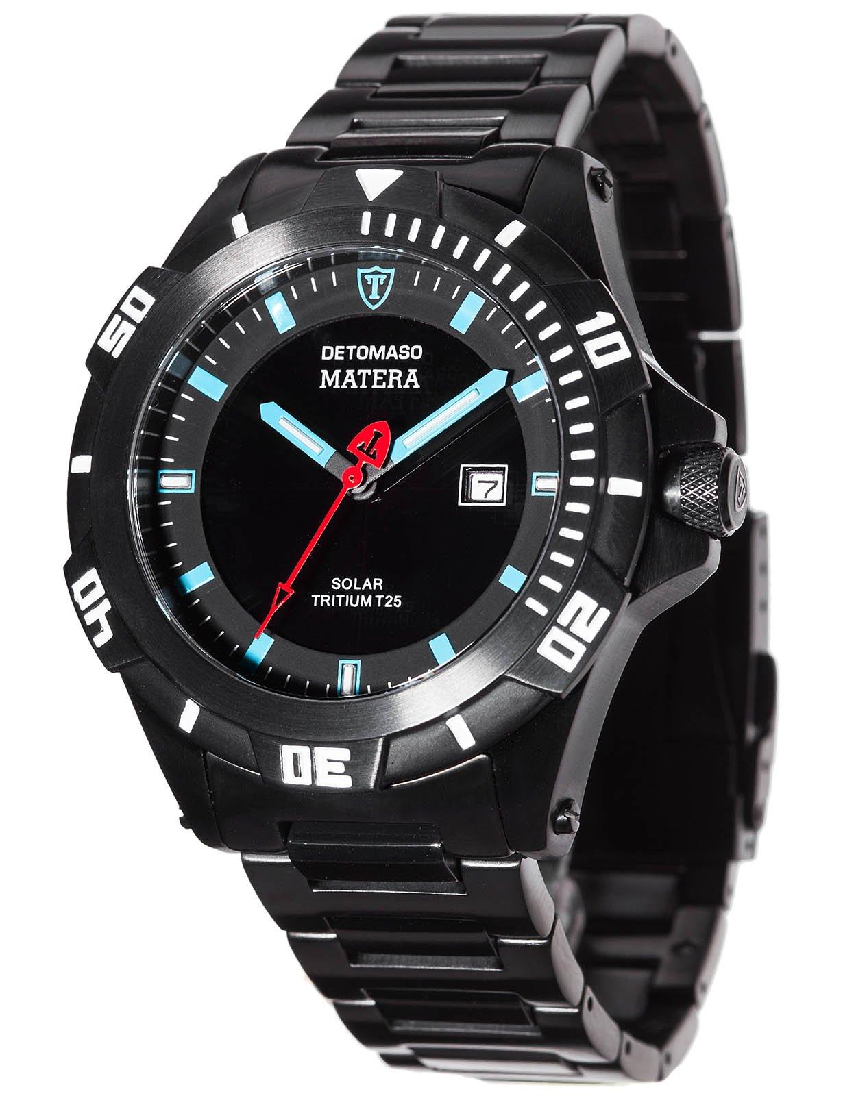 Detomaso DT2044-C – Reloj de pulsera hombre, acero inoxidable, color negro