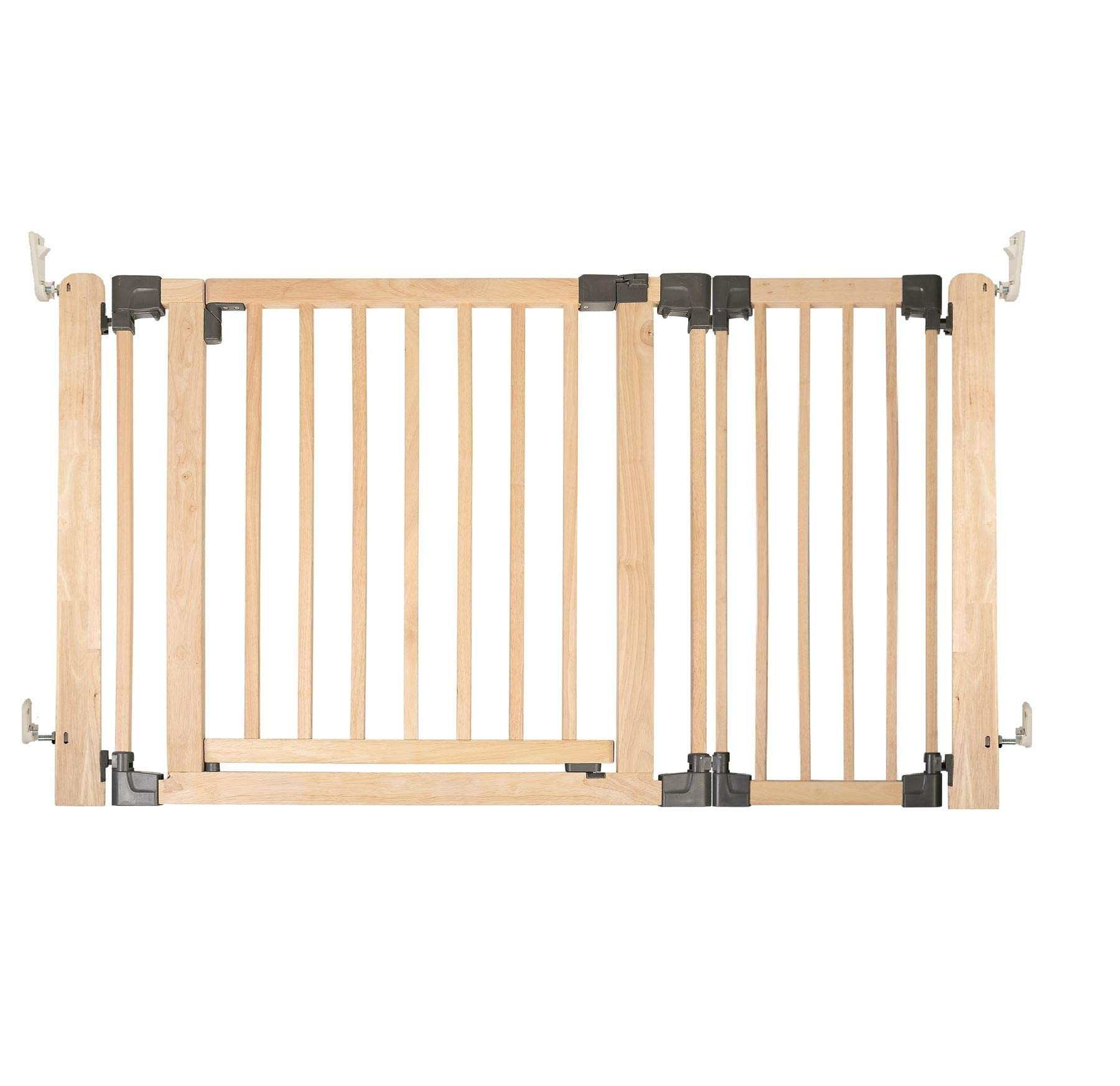 Safetots Wooden Multi Panel Room Divider Up to 136.5CM Safetots Made from premium grade wood designed to compliment all home interiors Each panel can be angled as required to make custom fit room dividing configurations This configuration comes complete with a wall mounting kit, one 80cm gate panel and one 40cm extension panel. 1