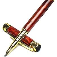 Lussuoso set di penna a doppio uso, stilografica e a sfera in palissandro. Realizzato a mano in legno naturale di…