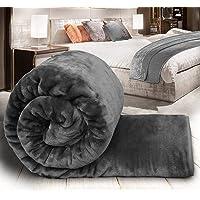 Blanket Double Bed for Winter Mink Blanket l Mink King Size Blankets - Grey
