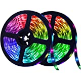 ELEAD 10 Meter 600LEDs Smart Bluetooth LED Strip Light 5050 RGB Waterproof Light Remote Control Colorful Rope Lighting for Ho