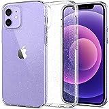 Spigen Liquid Crystal Glitter Coque Compatible avec iPhone 12 Compatible avec iPhone 12 Pro - Crystal Quartz