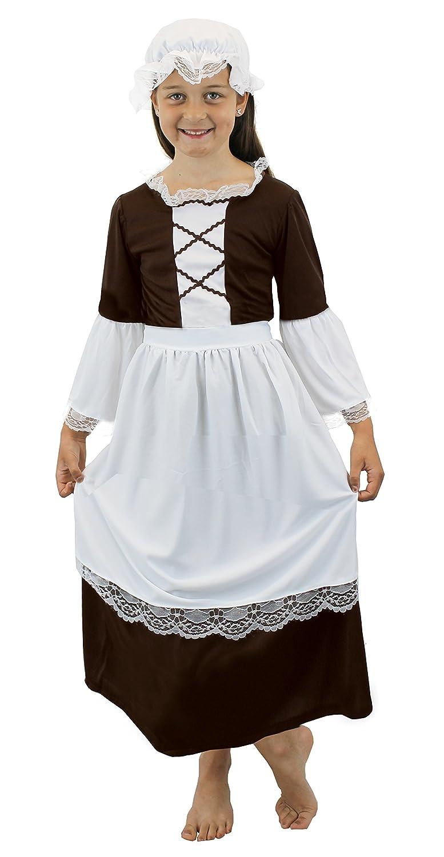White tudor apron - Tudor Girl Fancy Dress Costume Poor Tudor Maid Renaissance School Curriculum Outfit Victorian Girl 10 12 Years Amazon Co Uk Toys Games