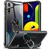 DOSNTO för Samsung Galaxy A50/A50S/A30S telefonfodral stöttålig reptålig med 360 roterbar ring stativ magnetiskt bilfäste tra