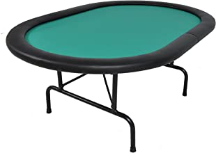 The Mini Oval Folding Poker Table - Green
